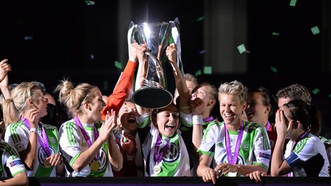 Las jugadoras alemanas celebran el triunfo (Foto: UEFA)