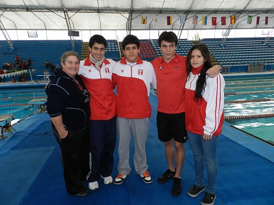 Gerardo Huidobro, participará en la pruebas de 100 Y 200m pecho, ya que el resto competirán en las pruebas de fondo (Foto: FDPN).
