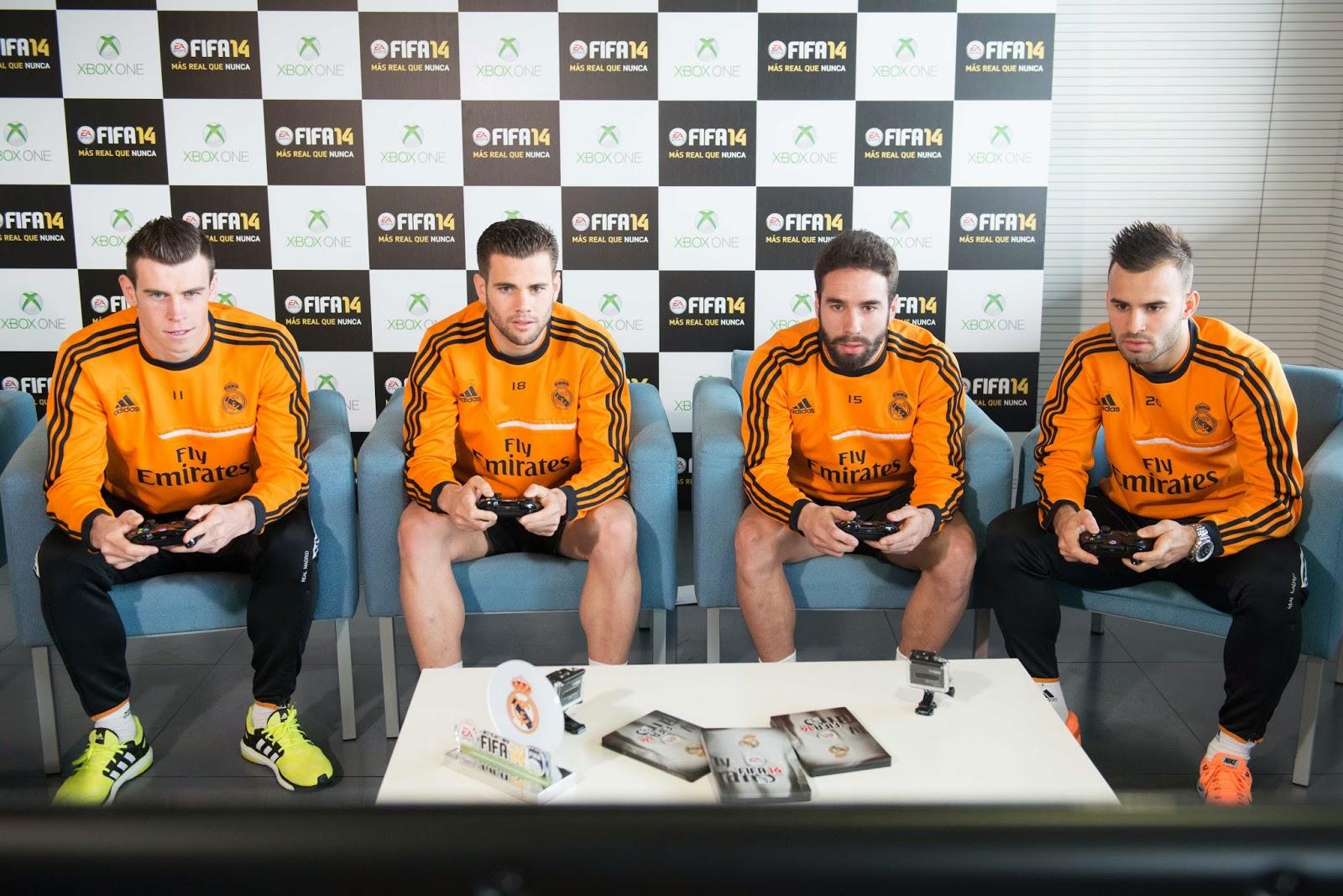 Bale, Nacho, Carvajal y Jesé probaron la nueva versión del juego (Foto: EA Sport).