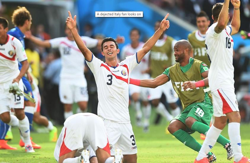 La selección de Jorge Luis Pinto está haciendo historia en Brasil 2014, esta vez venció al favorito Italia (Foto: FIFA.com).
