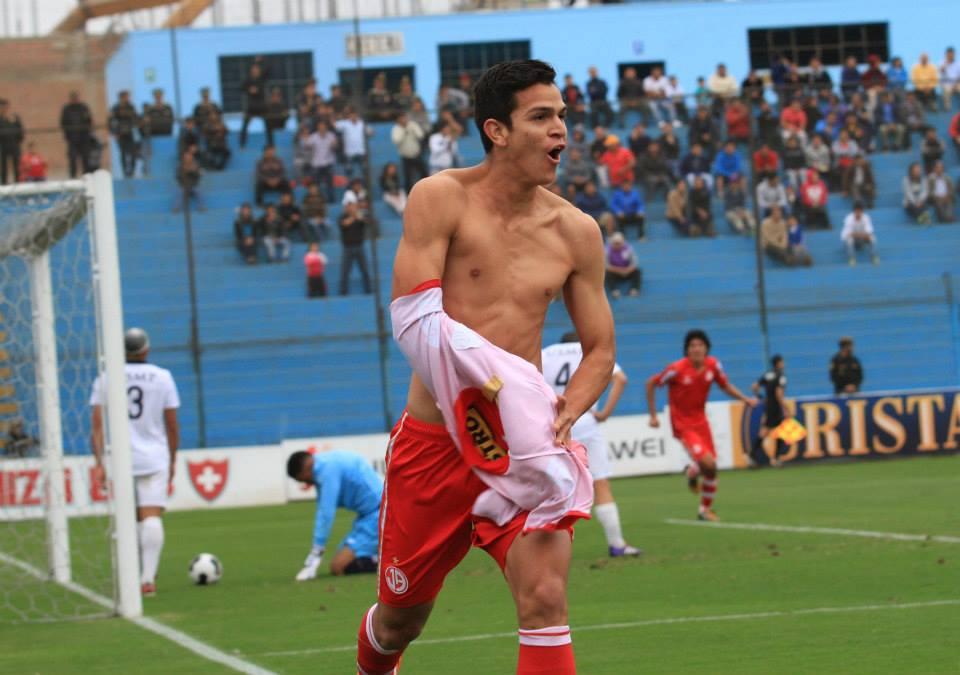 Así celebró Osnar Noronha el gol que le dio el triunfo al Juan Aurich (Foto: Facebook Club Juan Aurich).
