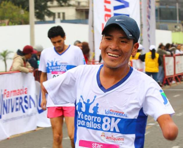 Fondista huancavelicano corrió la Maratón RPP (Foto: Aficionline.com).