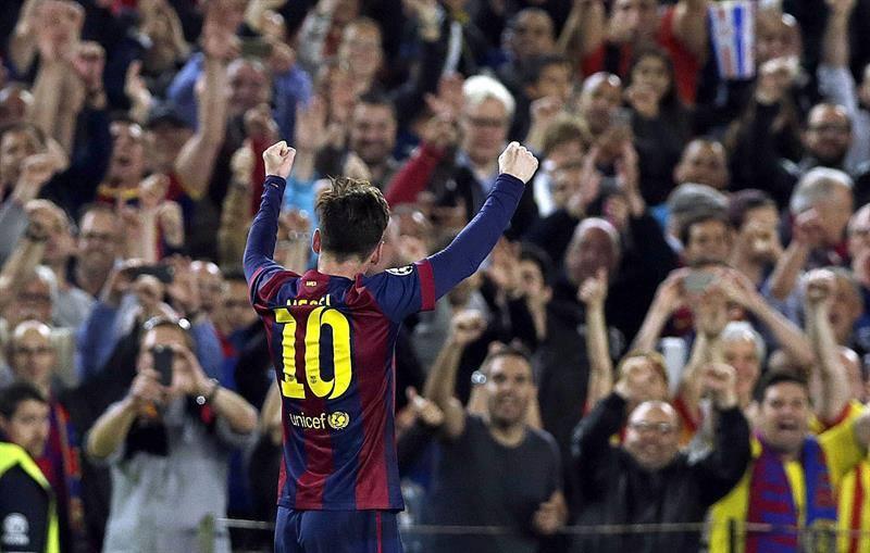 La 'Pulga' superó con sus dos goles de hoy en la tabla de goleadores a Cristiano Ronaldo (Foto: TyC Sports)
