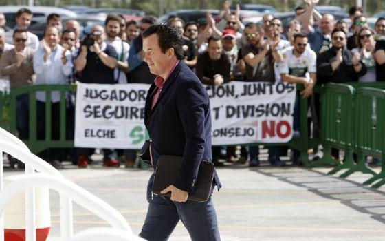 Juan Anguix, presidente del Elche, es uno de los dirigentes más criticados. (Foto: AS)