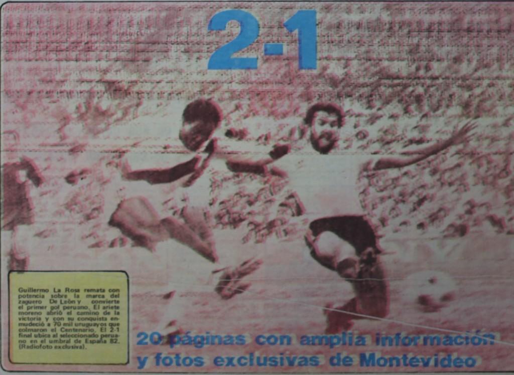 Después de 51 años, la selección peruana de fútbol logró derrotar a Uruguay en su estadio. (Foto: Diario La Crónica)