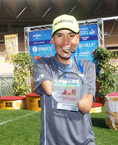 Es la  primera participación del atleta huancavelicano en una maratón a nivel profesional.