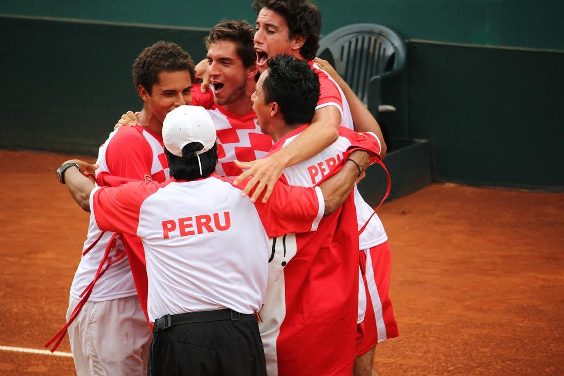 El equipo peruano fue conformado por Mauricio Echazú, Brian Panta, Juan Pablo Varillas y Duilio Vallebuona. (Foto: Federación Peruana de Tenis).