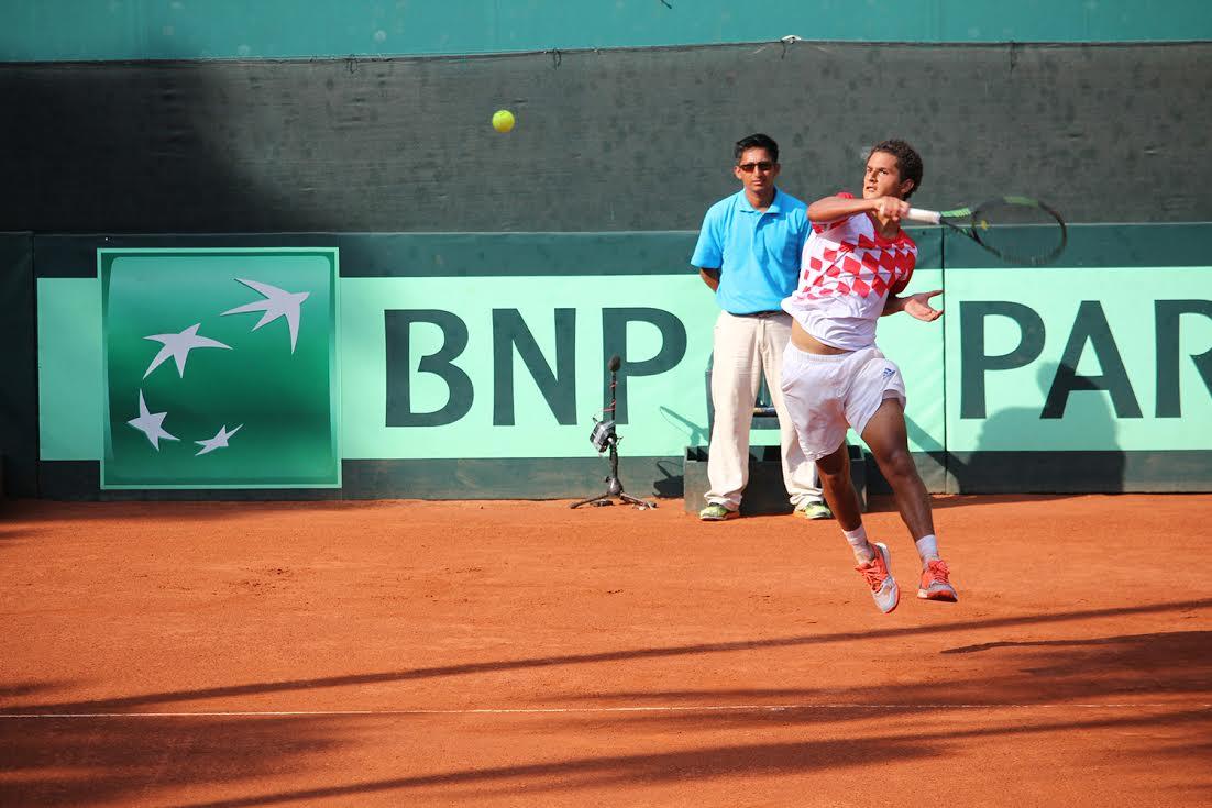 juan Pablo Varillas obtuvo su primera victoria en la Copa Davis. (Foto: Federación Peruana de Tenis).
