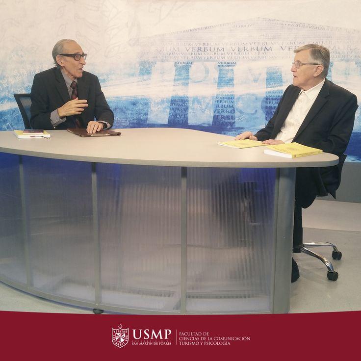 La conversación gira  sobre más reciente artículo escrito por el Dr. Leuridan en la Revista Cultura de la USMP.