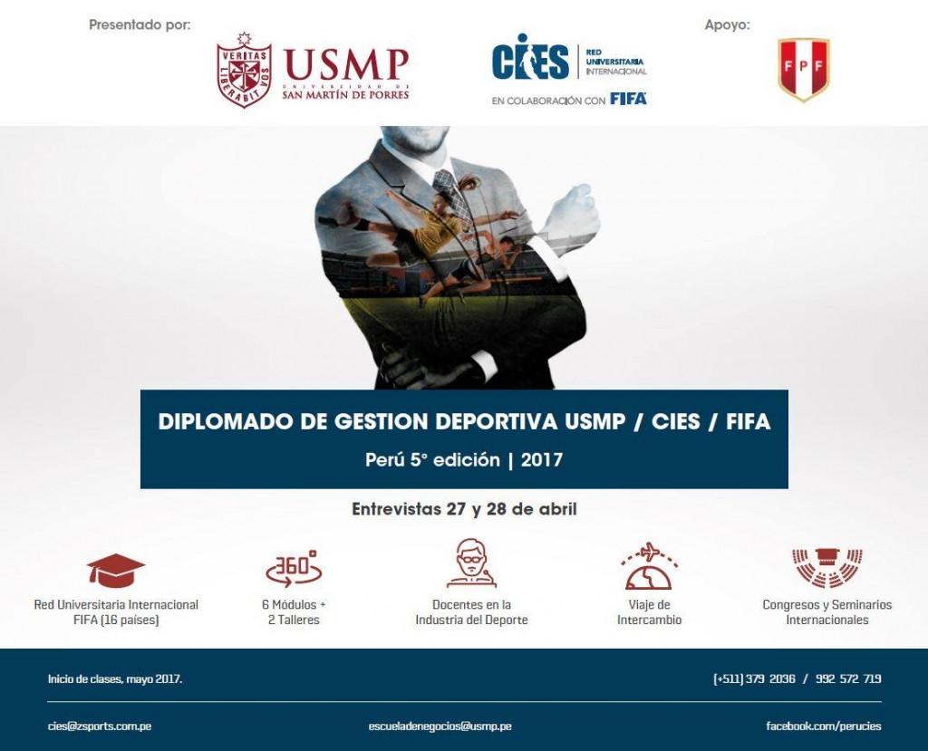Afiche Diplomado Ejecutivo de Gestión del Deporte