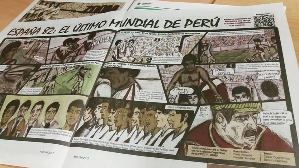 Cómic de España 82 en la central del suplemento Zoom del periódico 'Redacción' de la USMP