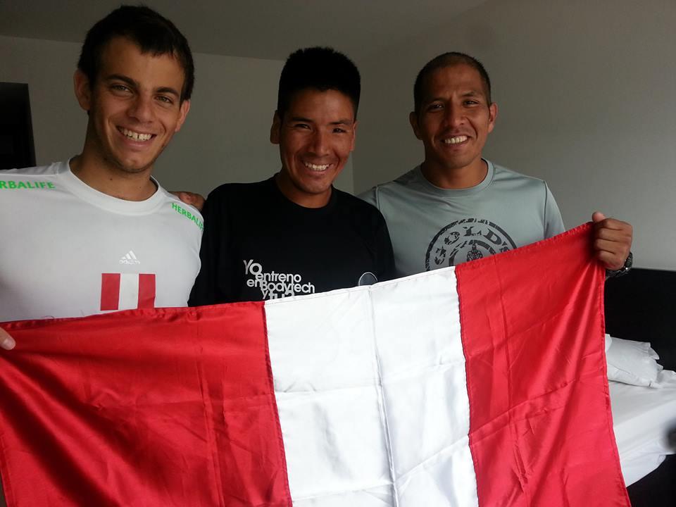 Los tres destacados deportistas son también protagonistas de La prueba de un campeón (Foto: www.facebook.com/PedroPablodeVinatea)